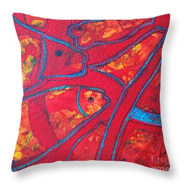 Even Fishes Love Red Throw Pillow by Ana Maria Edulescu