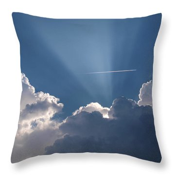 Even Through The Clouds You Will Find A Ray Of Sunshine Throw Pillow