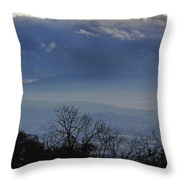 Evening At Grants Pass Throw Pillow by Mick Anderson