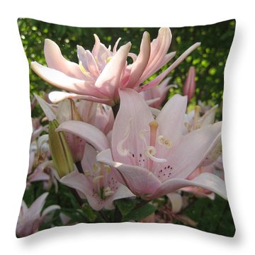 Evening Lilies Throw Pillow