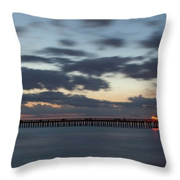 Evening Magic Throw Pillow by Nick  Shirghio