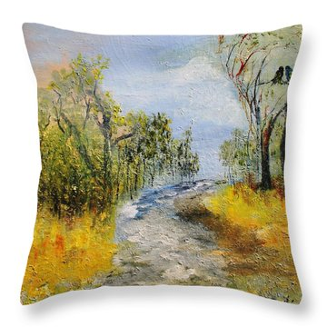 Evening Romance Throw Pillow by Evelina Popilian