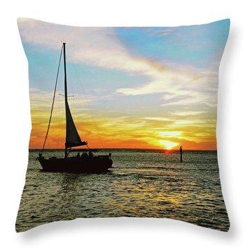 Evening Sailing Throw Pillow