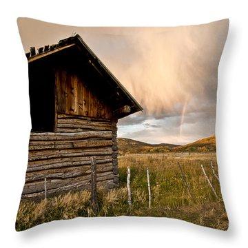 Evening Storm Throw Pillow by Jeffrey Kolker
