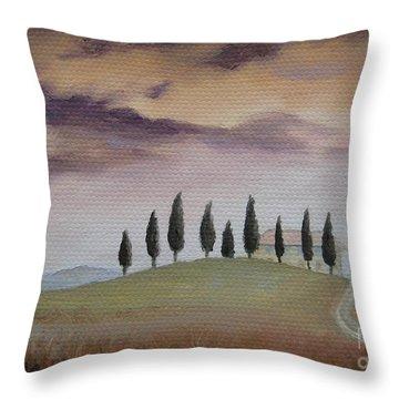 Evening Tuscany Throw Pillow