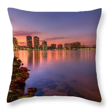 Evening Warmth Throw Pillow