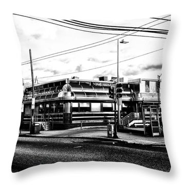 Everybody Goes To Melrose - The Melrose Diner - Philadelphia Throw Pillow by Bill Cannon