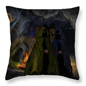 Evil Speaking Throw Pillow by Alessandro Della Pietra