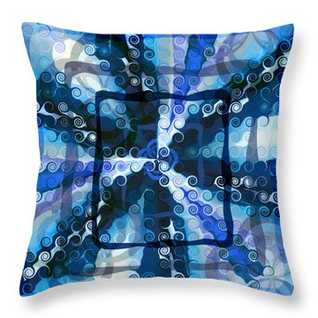 Evolve 5 Throw Pillow by Angelina Vick