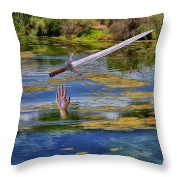 Excalibur Throw Pillow by Dominic Piperata