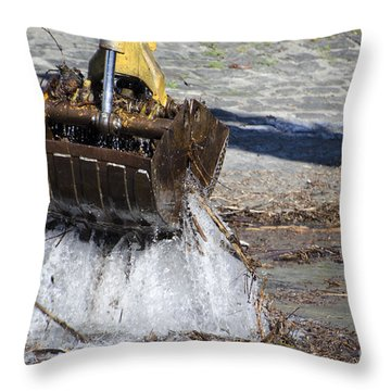 Excavator Throw Pillow