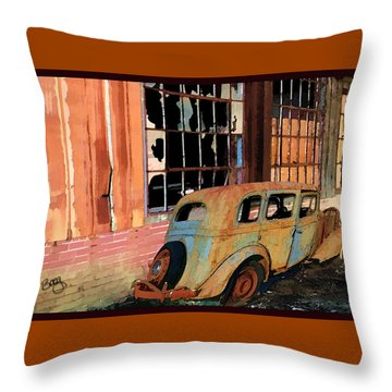 Throw Pillow featuring the photograph Executive Parking by Larry Bishop