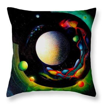 Exit Throw Pillow by Drazen Pavlovic