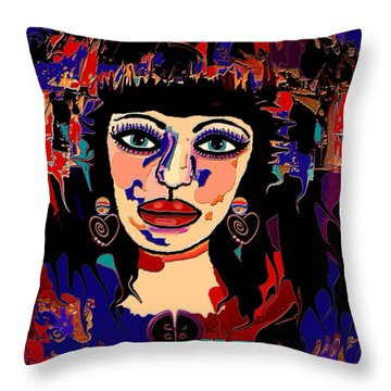 Exotic Woman Throw Pillow by Natalie Holland