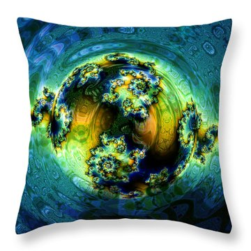 Expanding World Throw Pillow