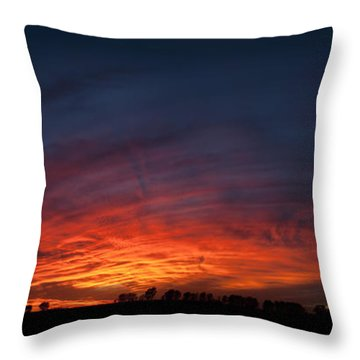 Expansive Sunset Throw Pillow by Art Whitton
