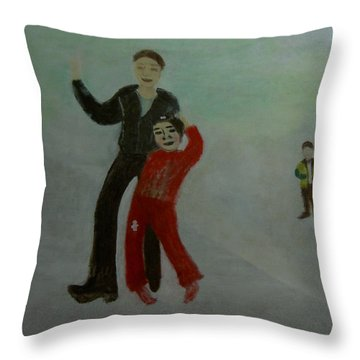 Throw Pillow featuring the painting Expectation by Min Zou