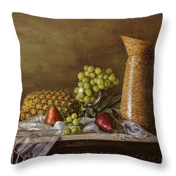Exploring Still Life Throw Pillow by Sari Sauls