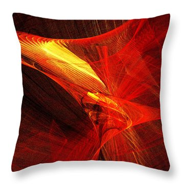Explosive Dance Throw Pillow by Andee Design