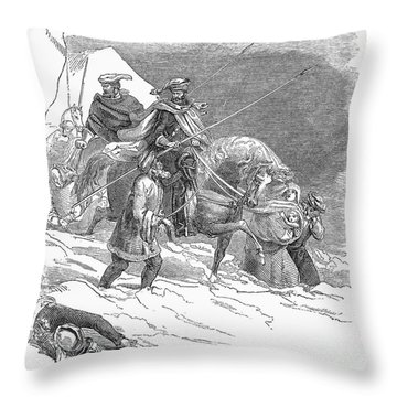 Expulsion Of Jews, 1844 Throw Pillow by Granger