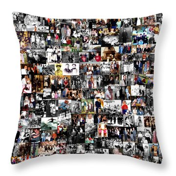 Extended Family Photo Collage Throw Pillow