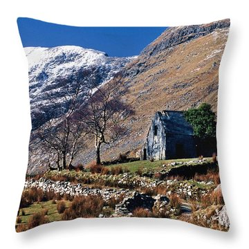 Exterior Of Rustic Home Throw Pillow by Gareth McCormack