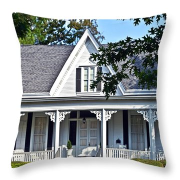 Exterior Of Victorian Style House Throw Pillow by Susan Leggett