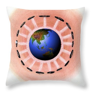 Extra Terrestrials Throw Pillow