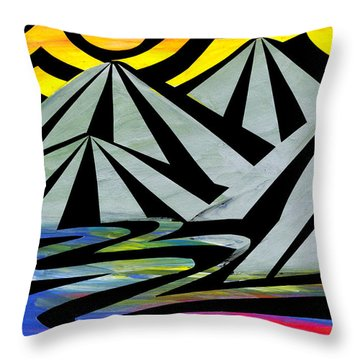 Extreme Alps Throw Pillow by Roseanne Jones