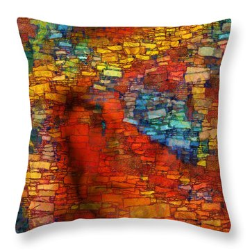 Extrusion Throw Pillow by RochVanh
