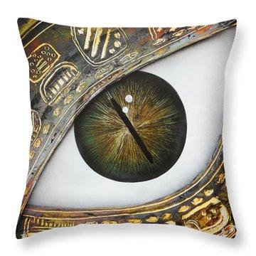 Eye Calendar Throw Pillow