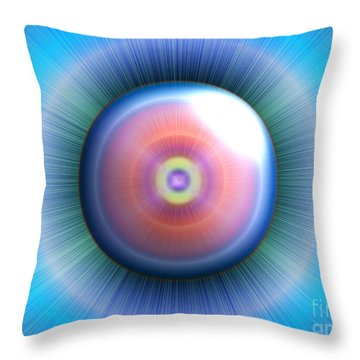 Eye Throw Pillow by Nicholas Burningham