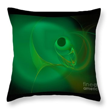 Throw Pillow featuring the digital art Eye Of The Fish by Victoria Harrington