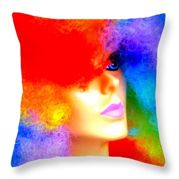 Eye Of The Rainbow Throw Pillow