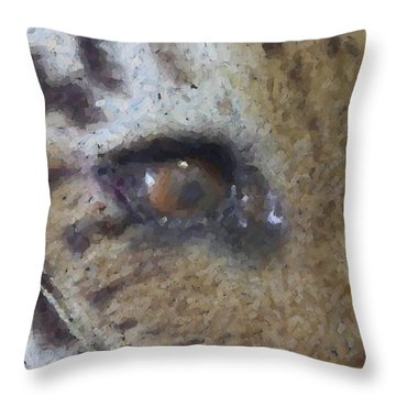 Throw Pillow featuring the photograph Eye Of The Tiger by Donna G Smith