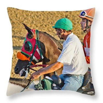 Eye On The Athlete  Throw Pillow by Betsy Knapp