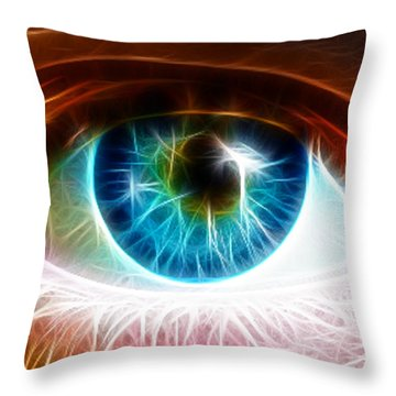 Eye Throw Pillow by Paul Van Scott
