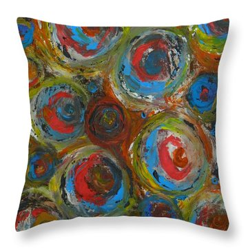Throw Pillow featuring the painting Eyeball by Everette McMahan jr
