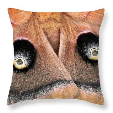 Eyes Of Deception Throw Pillow