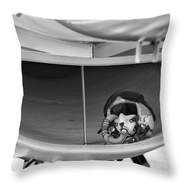 F-16  Throw Pillow by Marta Holka
