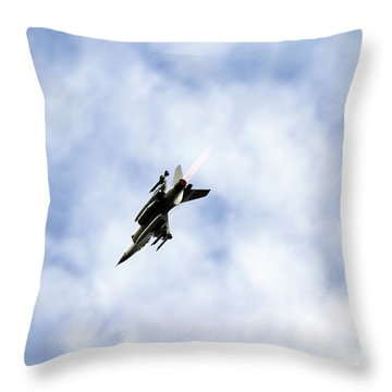 F-16 Of The Belgian Air Force Throw Pillow by Luc De Jaeger