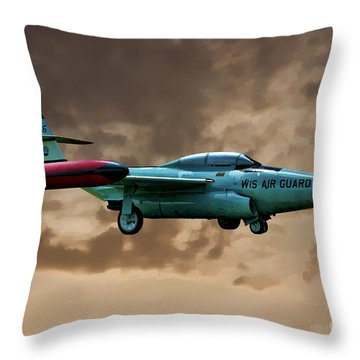 F-89 Scorpion Throw Pillow by Tommy Anderson