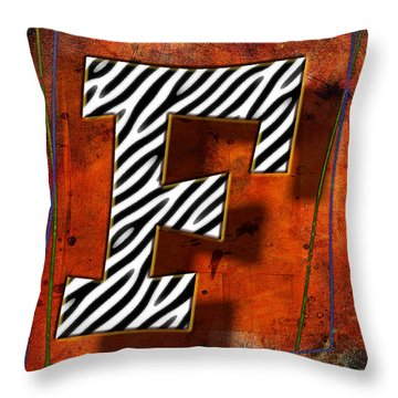 F Throw Pillow by Mauro Celotti