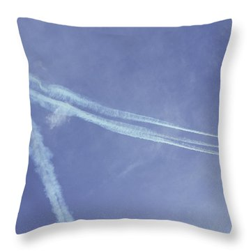 F16s In Formation Throw Pillow
