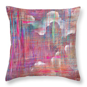 Fabric Of A Dream Throw Pillow by Rachel Christine Nowicki