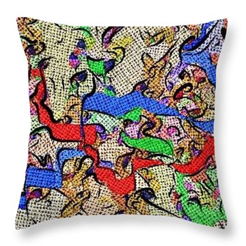 Throw Pillow featuring the digital art Fabric Of Life by Alec Drake