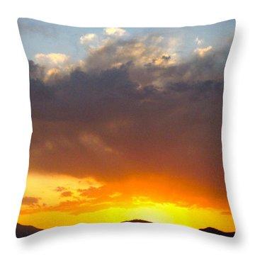 Fabulous Sunset Throw Pillow by Phyllis Kaltenbach