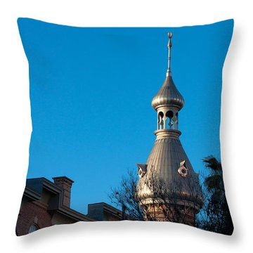 Throw Pillow featuring the photograph Facade And Minaret by Ed Gleichman
