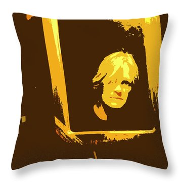 Face In The Mirror Throw Pillow