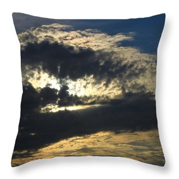 Face Of A Storm Throw Pillow
